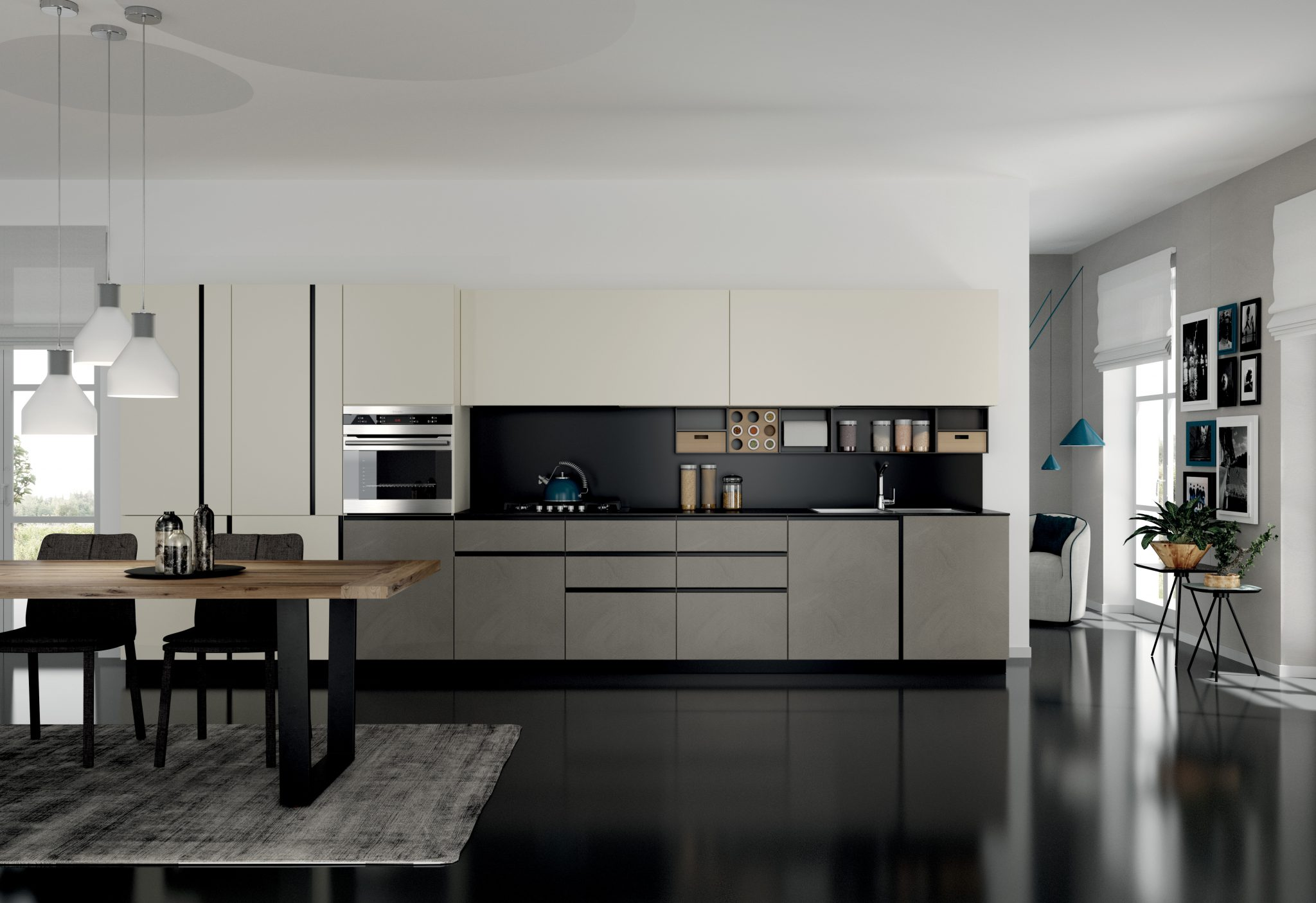 Cucina moderna open space