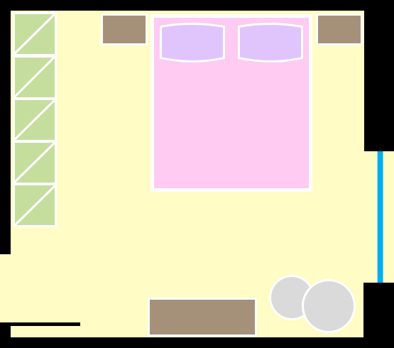 Layout Camera da letto 1 - La Casa Moderna