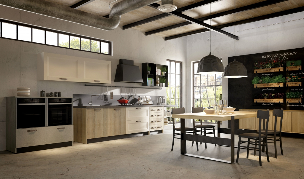 Cucina stile industrial chic